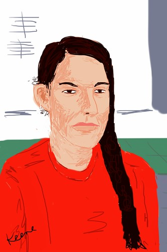 My iPhone sketch of Marina Abramovic by jstheater