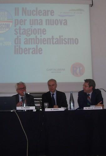 Convegno sul nucleare con gli onorevoli Guido Possa e Benedetto Della Vedova, 28 marzo 2008