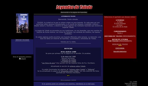 Leyendasdetoledo.com en 2000