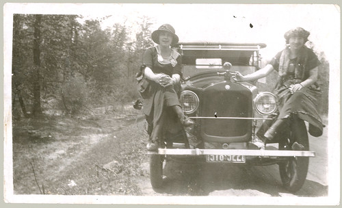 Two Women on a Car