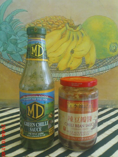 Sri Lankan chilli sauce and toban djan