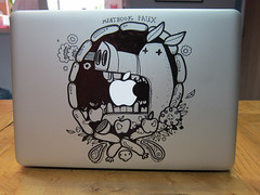 Meatbook Faux (mediamolecule) Tags: art found doodles foundart casemod customised macbook meatbook rexbox mediamolecule