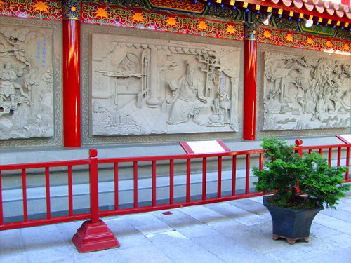 Wall mural at General Quan Temple, International Buddhist Temple, Steveston, BC