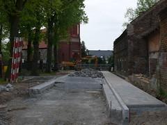 Blick Richtung Kreuzung zur Dorfstraße