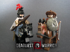Alexander vs Attila (Hound Knight) Tags: lego warrior minifig custom deadliest brickarms brickforge