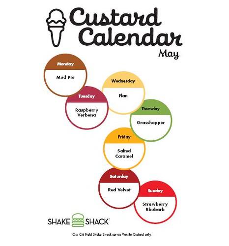 Shake Shack May 2010 calendar