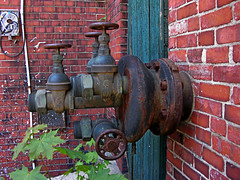 Pipes Bricks Paint-04 (Mason Masteka) Tags: old broken rust peeling industrial pipes worn