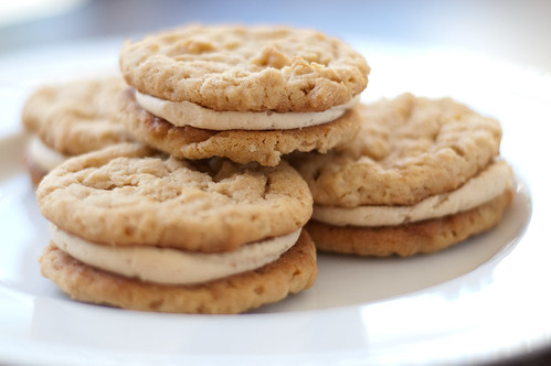 Pink Parsley: Peanut Butter Oatmeal Sandwich Cookies