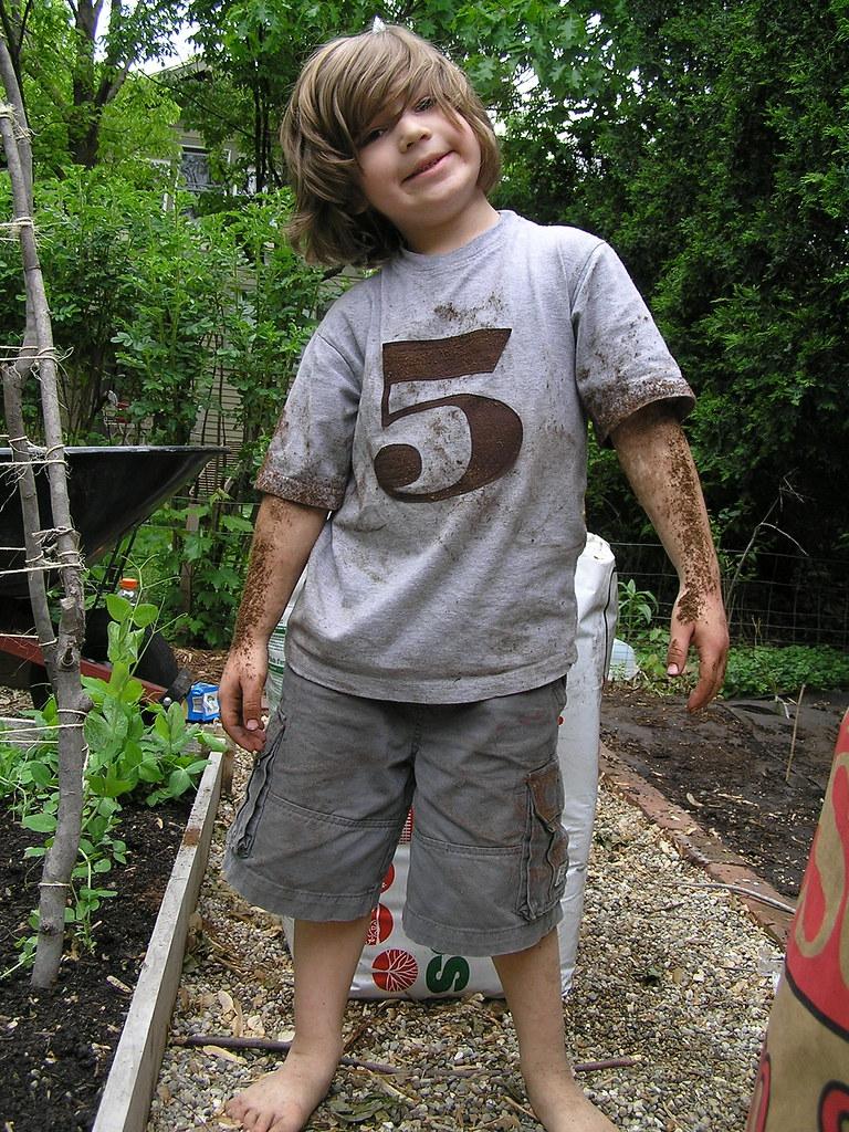 um, he loves peat moss