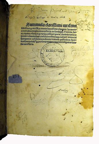 Provenance evidence in Adam, Magister: Summula Sacramentorum...'