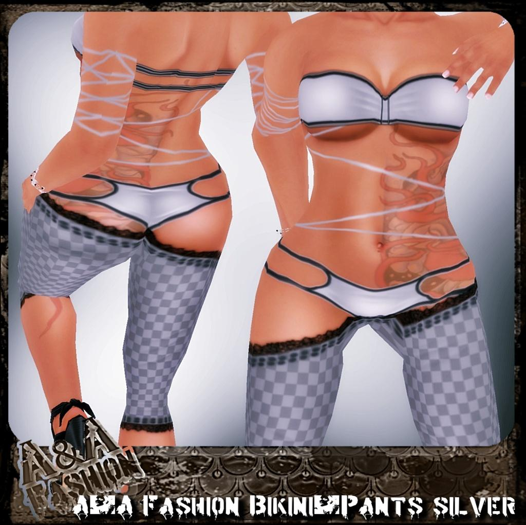 A&A Fashion bikini and pants silver
