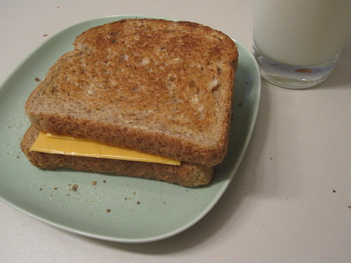cheese sandwich, milk
