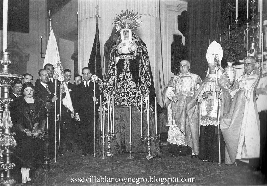 Virgen de la Angustia primitiva Bendición
