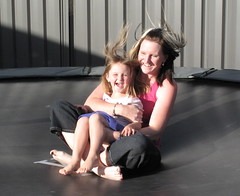 Mother & Daughter Having Fun (Eyersh) Tags: playing trampoline motheranddaughter canong10