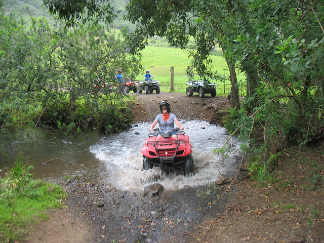 me attempting to steer my unwieldy ATV