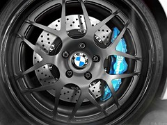 BMW (Monkey Wrench Media) Tags: blue baby white black detail reflection wheel metal germany star mesh spokes wheels nuts tire tires german bmw brakes nut custom rim rims discs brembo roundel lug hre caliper lugs calipers drilled rotors brembobrakes vorsteiner drilleddiscs