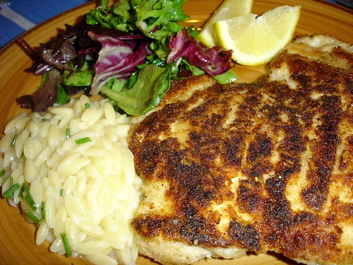 Mom's Cooking Club: Dinner is served.....Chicken Milanese ...