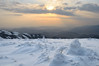 Dusk on the top (Pete.J.Dunham) Tags: sun mountain snow travelling tourism trekking trek spring russia dusk hiking may tourist east beam backpacking summit mtn backpacker region far taiga primorye flutings airperspective ussuribroadleafandmixedforests