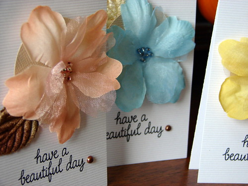 Simple Cards Using Petaloo Flowers