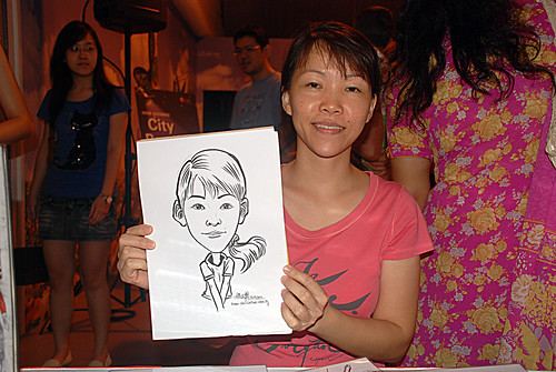 caricature live sketching for LG Infinia Roadshow - day 2 -17