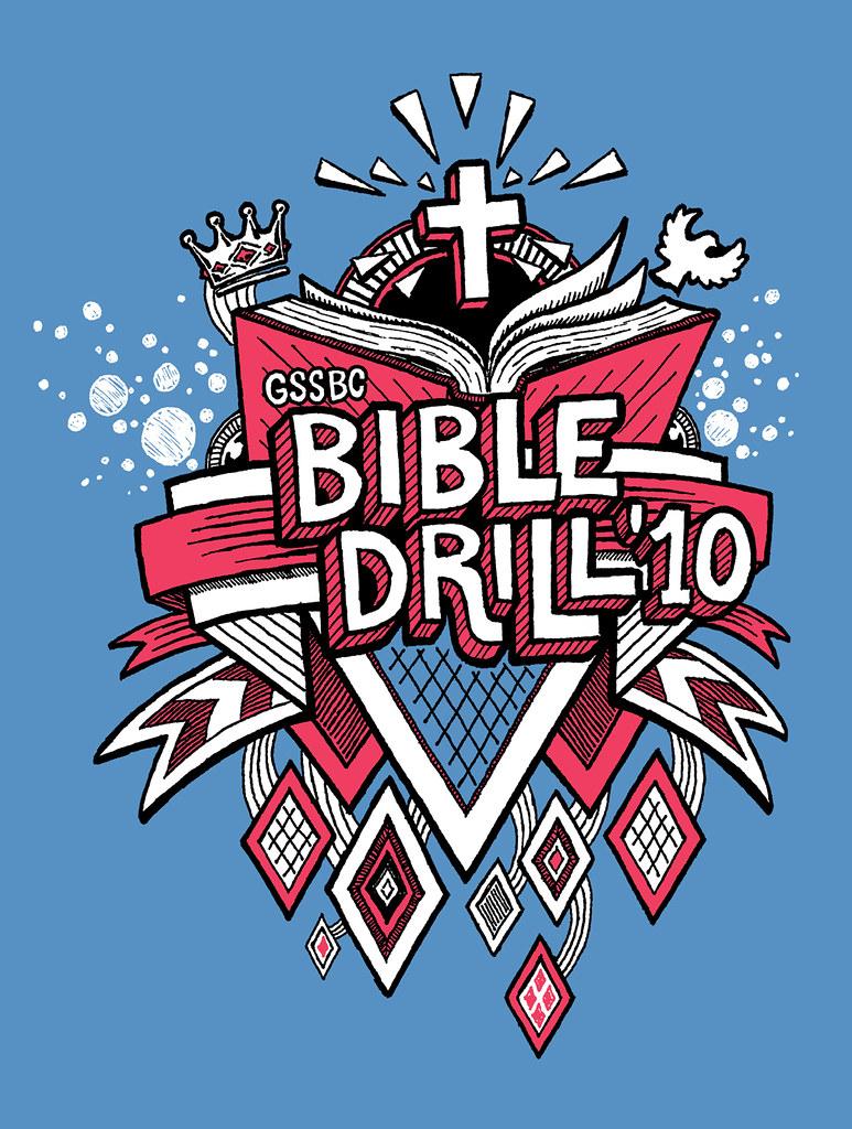 GSSBC Bible Drill 2010 - Hand Drawn T-shirt Design
