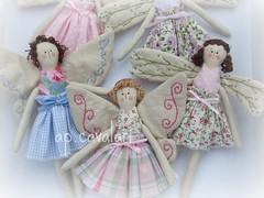 uma de azulllll e outra de coque... (AP.CAVALARI / ANA PAULA) Tags: bonecas fairy patchwork fadas dolss anjinhas anapaulacavalari apcavalari