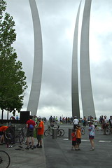 We also biked up to the Air Force Memorial