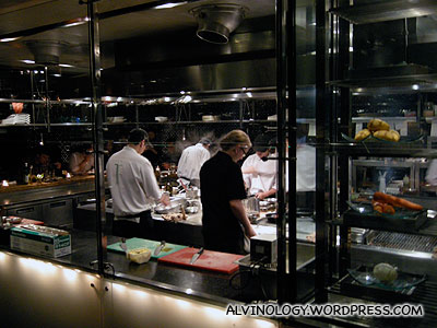 Open kitchen - right at the restaurant entrance