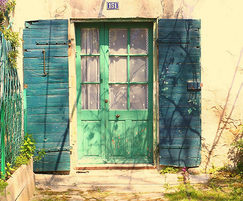 Old door and shutters, Fontvieille, Provence