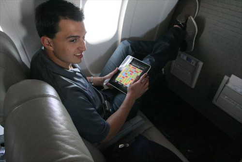 Rahal and an iPad