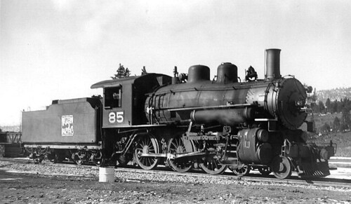 Western Pacific 4-6-0 # 85 at Portola California in 1938. by Eddie from Chicago