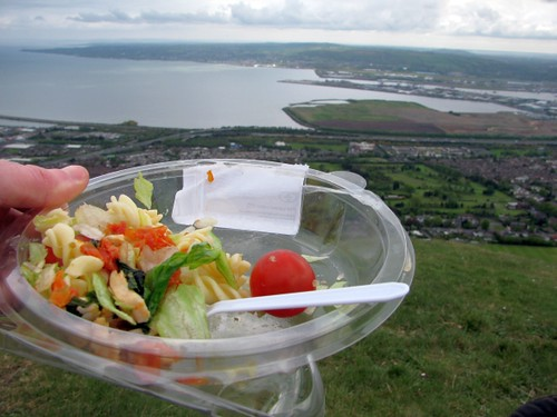 Chicken pasta salad over belfast