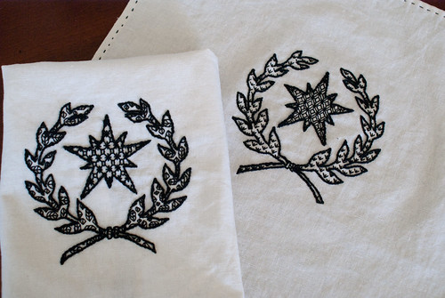 Blackwork Cup Covers