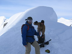 Paul and Rob at the top of Gully #1 getting ready to ride.