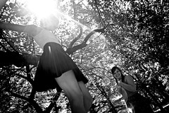 getting down (rbehner) Tags: new york trees girls ny centralpark backlit 2470mm