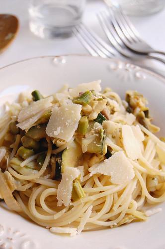 Spaghetti verdi sciue sciue