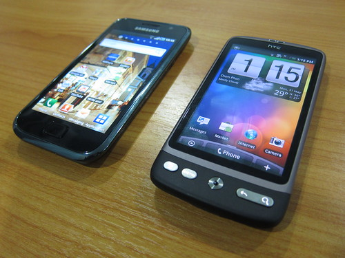 HTC Desire vs Samsung Galaxy S