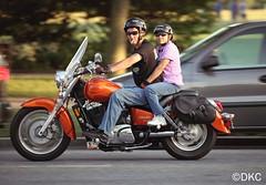 Motorcycle Couple (unclekehi) Tags: shadow honda washingtondc dc washington motorcycle biker constitution hog cruiser memorialday rollingthunder canon5dmarkii