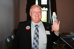 Rob Ford with puppet