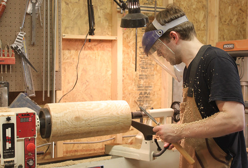 Ben Light at the Lathe