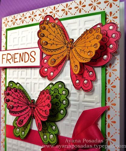 Friendship Butterfly Card (2)