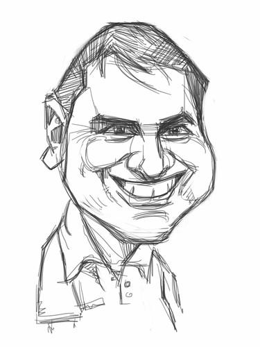 Digital caricature of caricaturist Raúl Curbelo Belén - 1