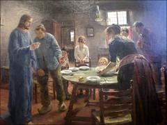 Das Tischgebet ``Komm Herr Jesu, sei unser Gast`` Fritz von Uhde (Thyane) Tags: jesus jesu altenationalgalerie realismus tischgebet fritzvonuhde