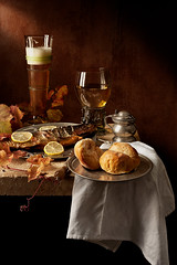 Still Life - Autumn (kevsyd) Tags: autumn stilllife netherlands beer smokedfish kevinbest dutchstilllife