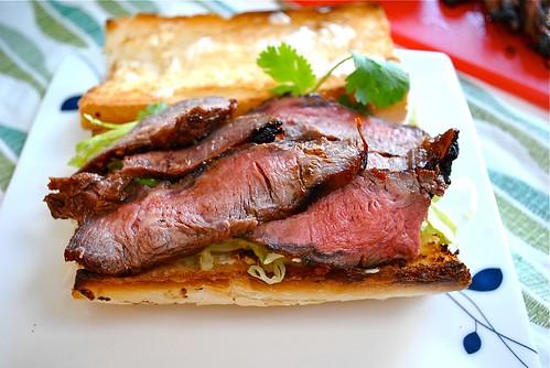 ... Love My Apron: Grilled Flat Iron Steak Sandwich with Korean Marinade