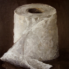Toilet Paper - sold (fRiedl aRt) Tags: art oil toiletpaper friedl rockford masonite artfriedl