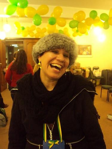 A organizadora do evento, India OHara Sarti. Foto: Solange Cristiny