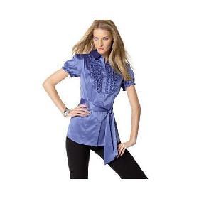 blusa de cetim para festa