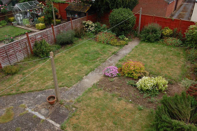 Our back garden in June 2010 - square and quite bare