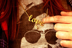 Love is the thing, you know! (Alva Keogh) Tags: life ireland friends red summer irish sunlight love girl smile kids female canon walking point gold necklace words hand friendship body hellokitty text romance sexandthecity adventure everyday goldenhour theeveryday